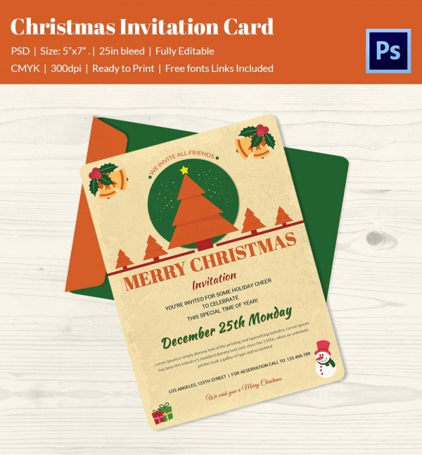 christmas drinks invitation template download eps format
