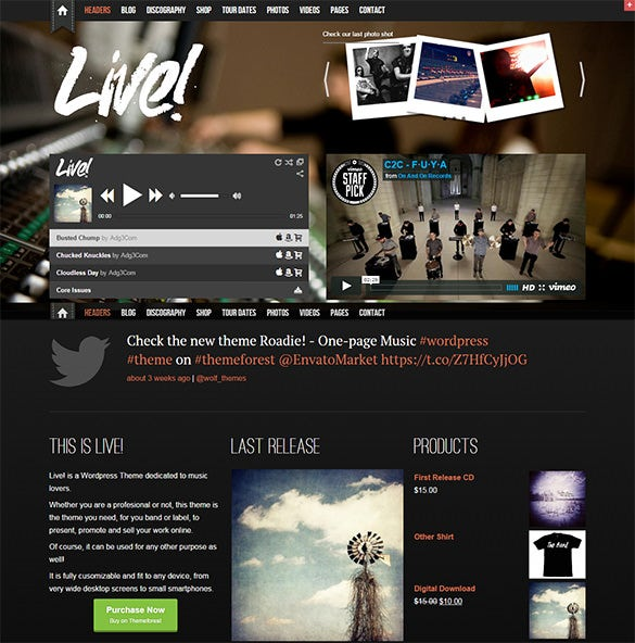 live music wordpress theme