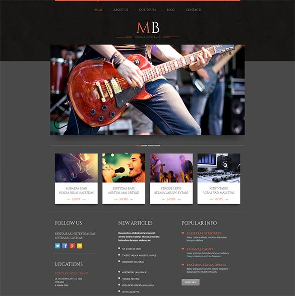 music band responsive wordpress theme2