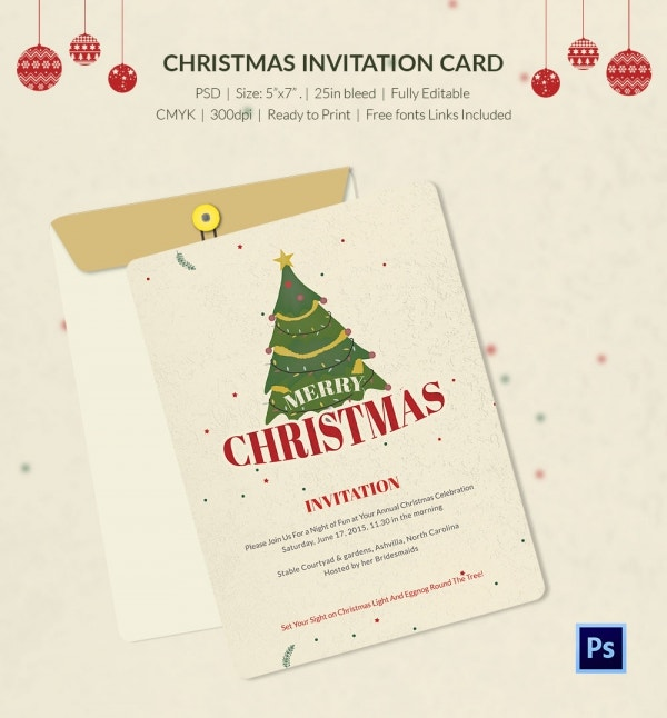christmas carnival invitation template photoshop psd design