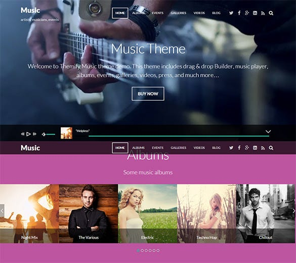 music – wordpress theme