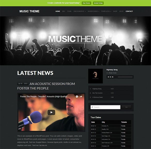 music wordpress themes1