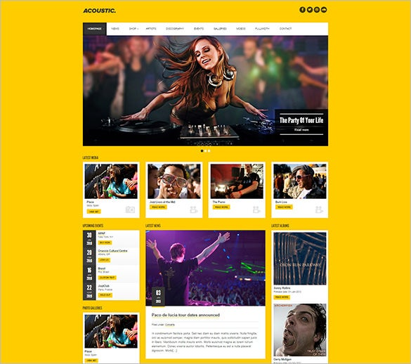 acoustic – premium music wordpress theme