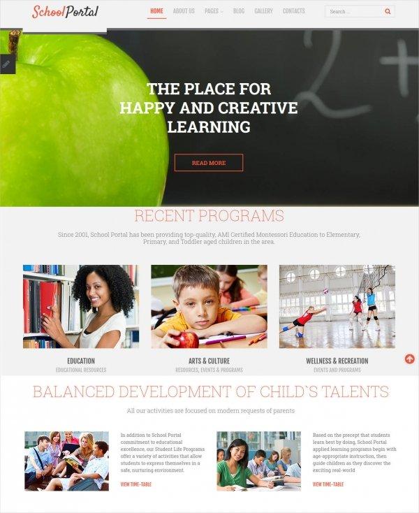 educational school portal responsive joomla templa