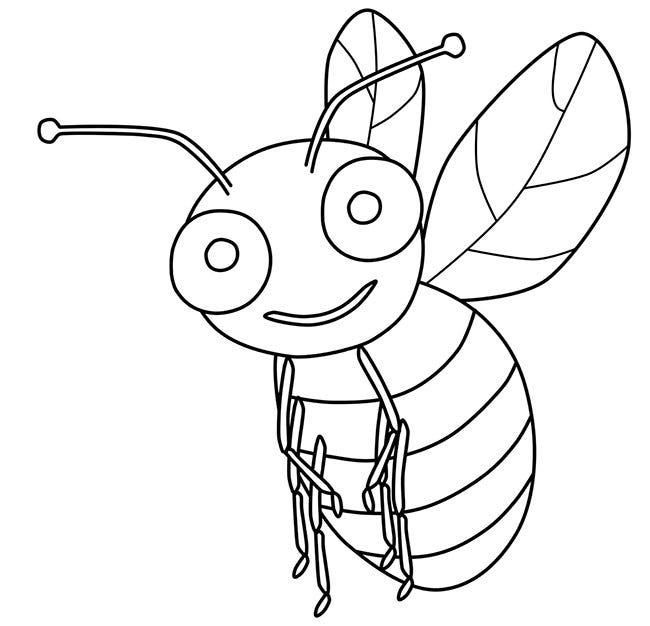 Bee template animal templates free premium templates bee template maxwellsz