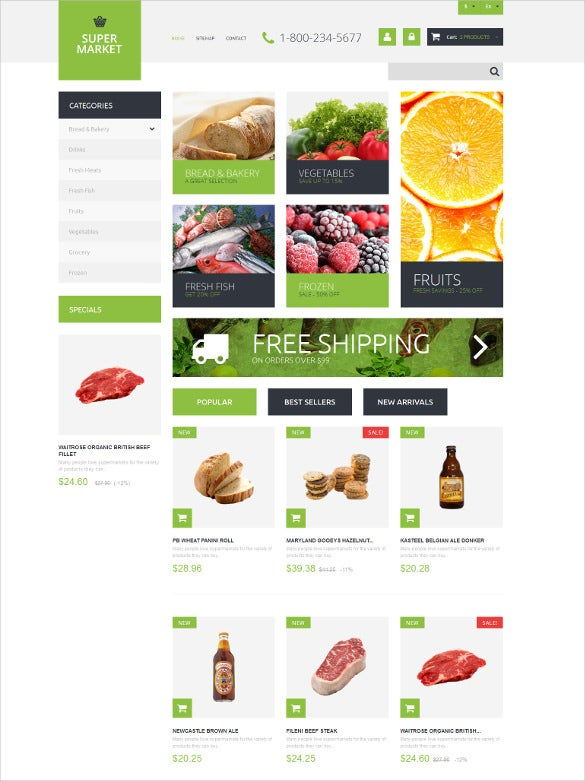 supermarket template prestashop theme2