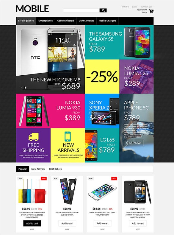 handheld devices prestashop theme1