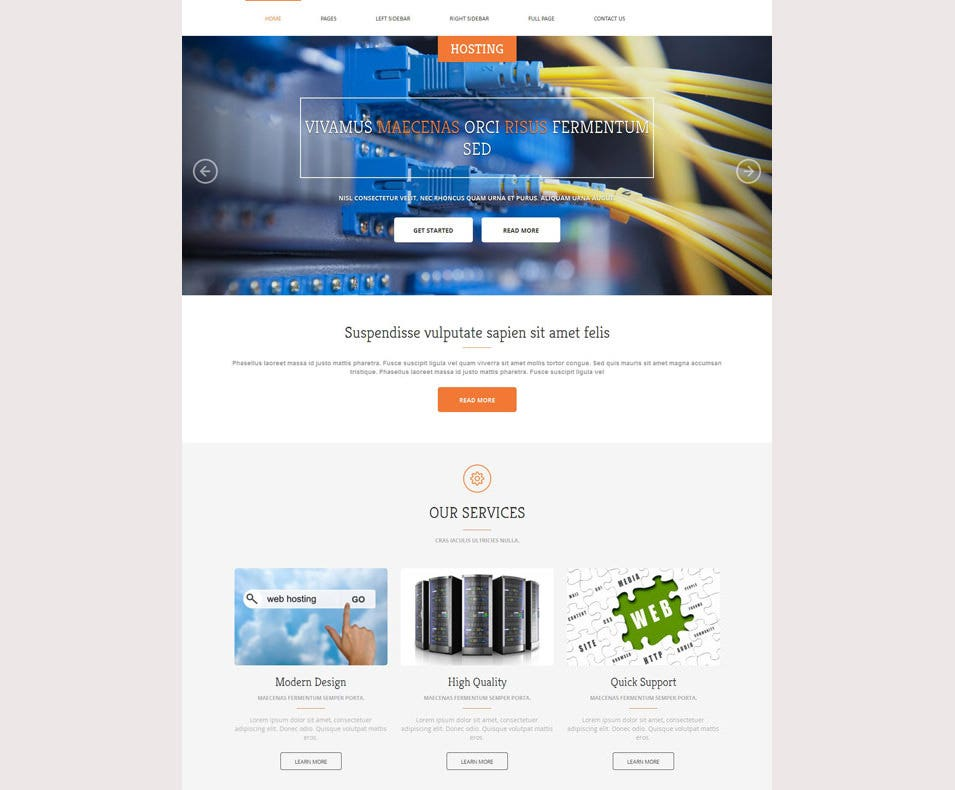 Hosting Web Template