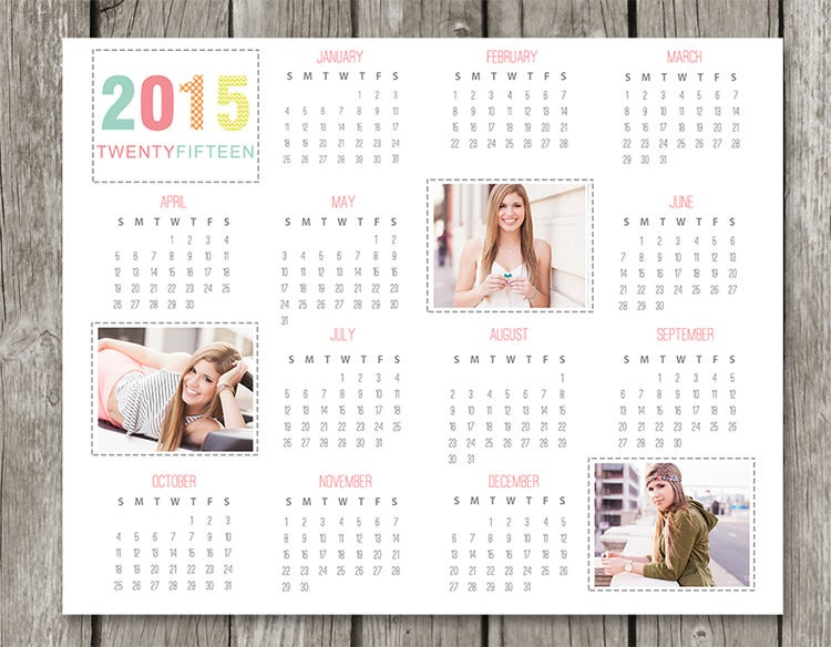 2015 2016 calendar template