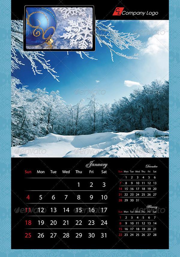 2015 black calendar template