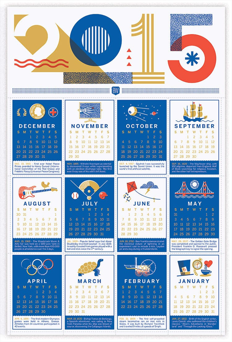 Calendar For Typography Nerds : Best yearly calendar templates to download