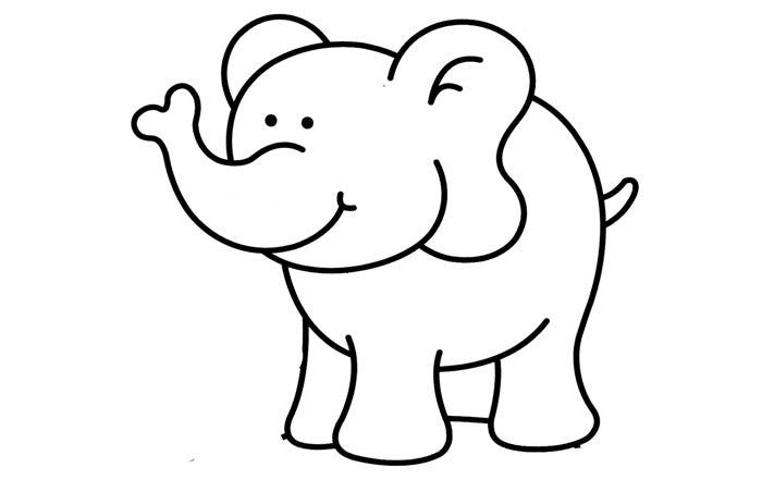 cartoon look of elephant template - Cartoon Template Printable