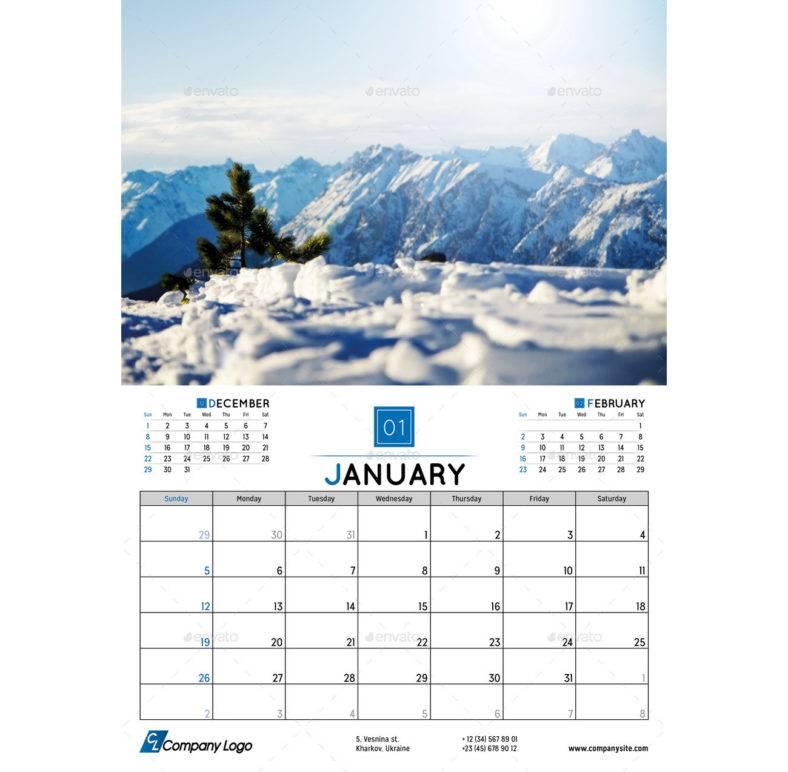 2020 wall calendar planner template 788x772