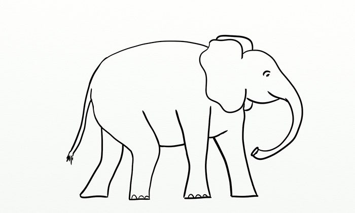 photograph about Printable Elephant Stencil identified as Elephant Template - Animal Templates Cost-free Quality Templates