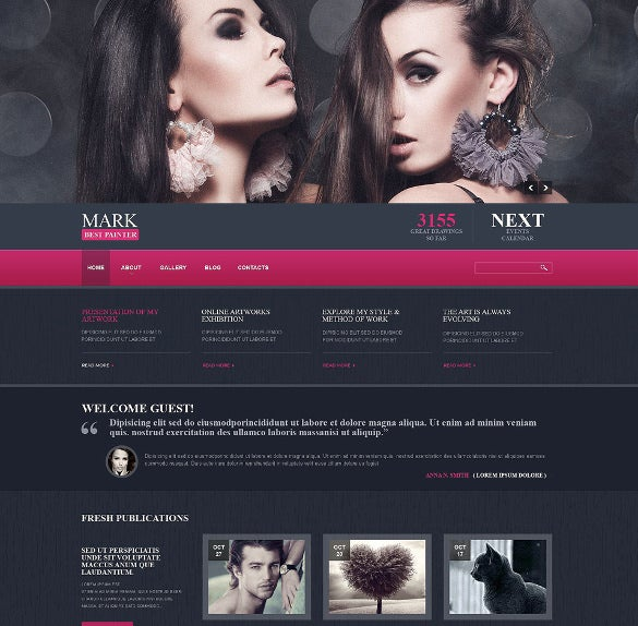 personal page responsive joomla bootstrap template