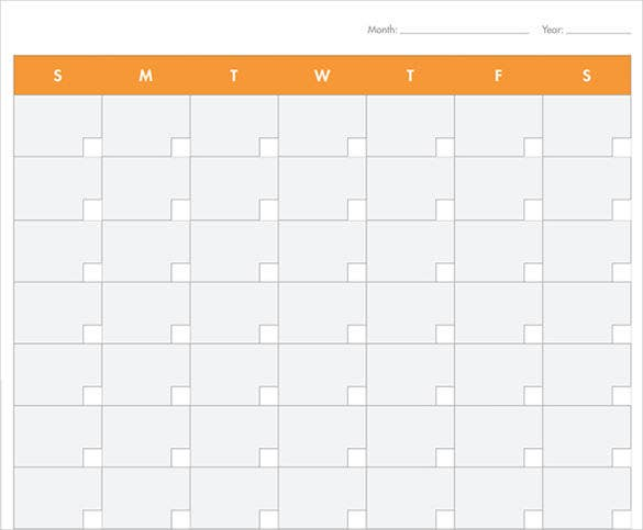 39 Blank Calendar Template – Monthly Timetable Template