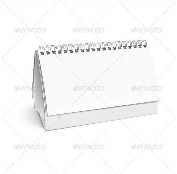 blank white calendar template