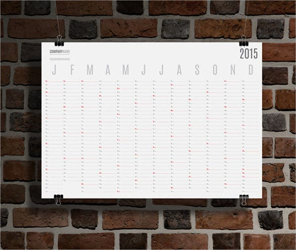 yearly blank calendar template