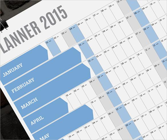 blue blank calendar template