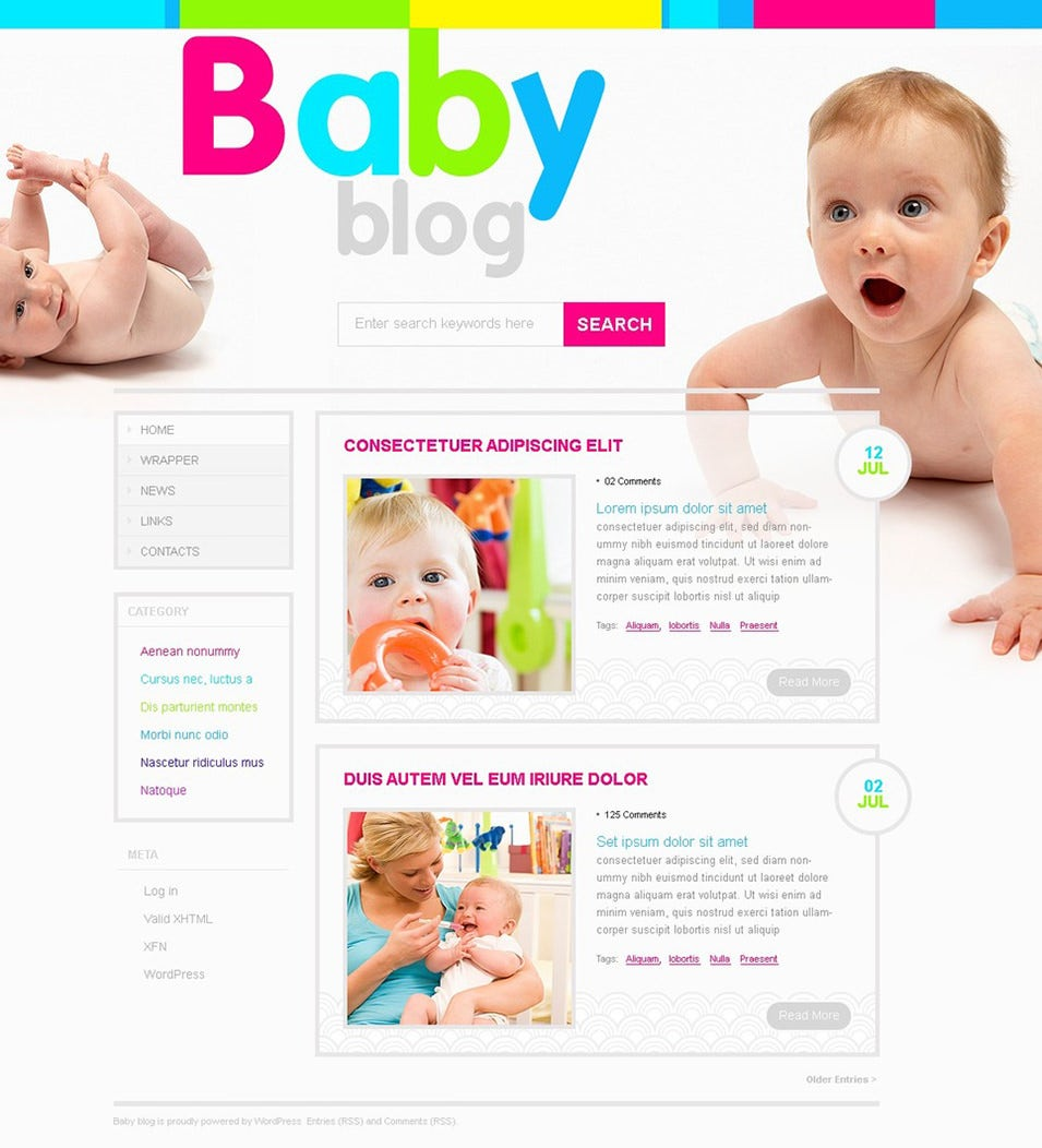 Newborn - Baby WordPress Theme