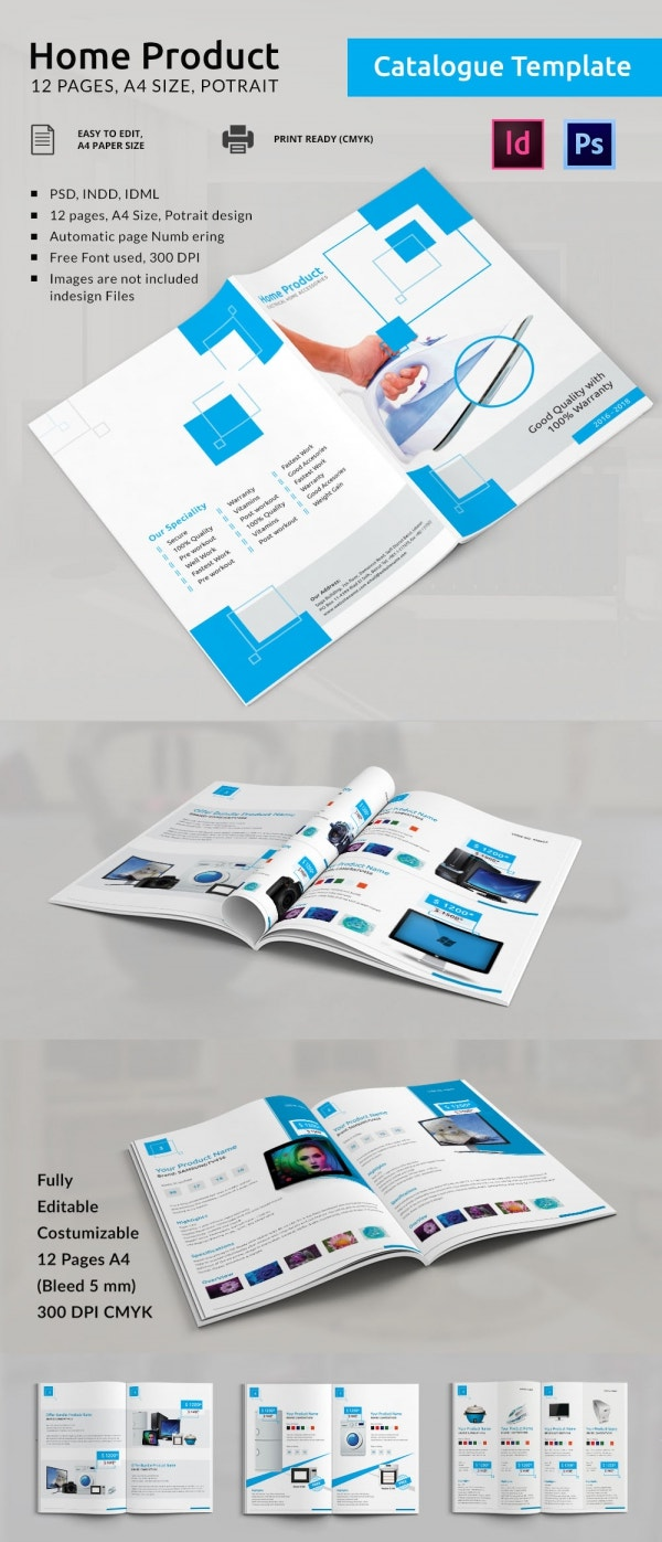 25 professional catalog design templates free premium for Sample product catalogue template