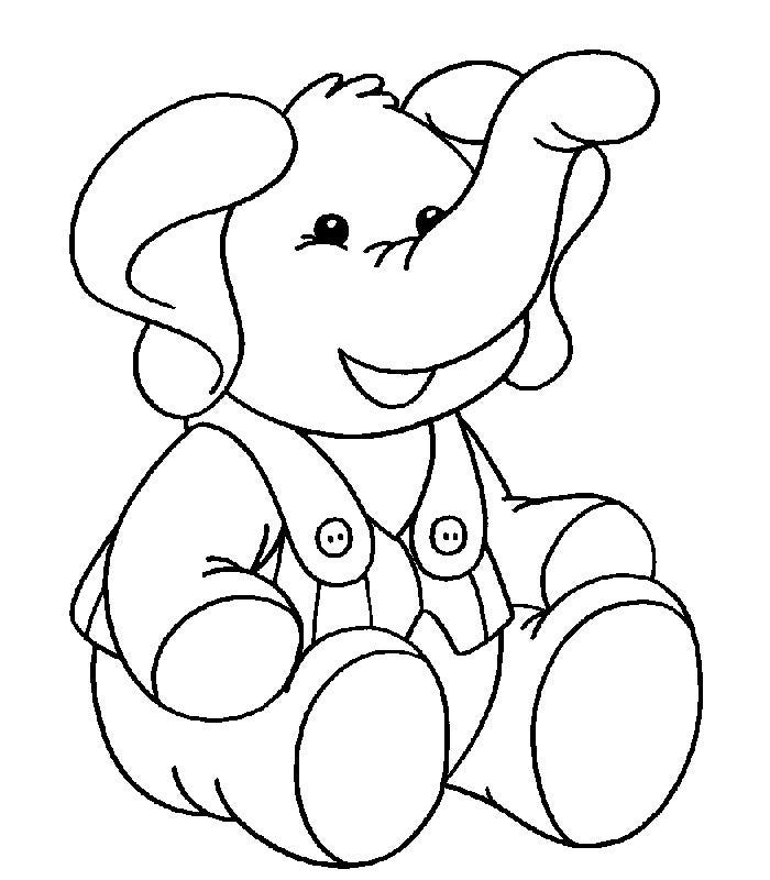 Elephant template animal templates free premium for Elephant coloring pages