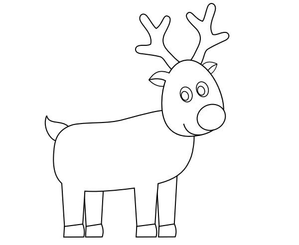 65 best christmas decoration templates examples free for Rudolph the red nosed reindeer template