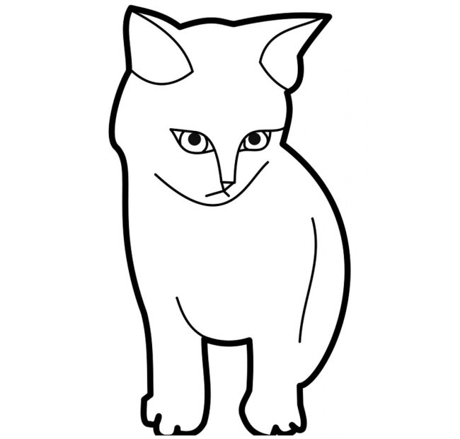 picture about Cat Stencil Printable referred to as Cat Condition Template - Animal Templates Totally free High quality Templates