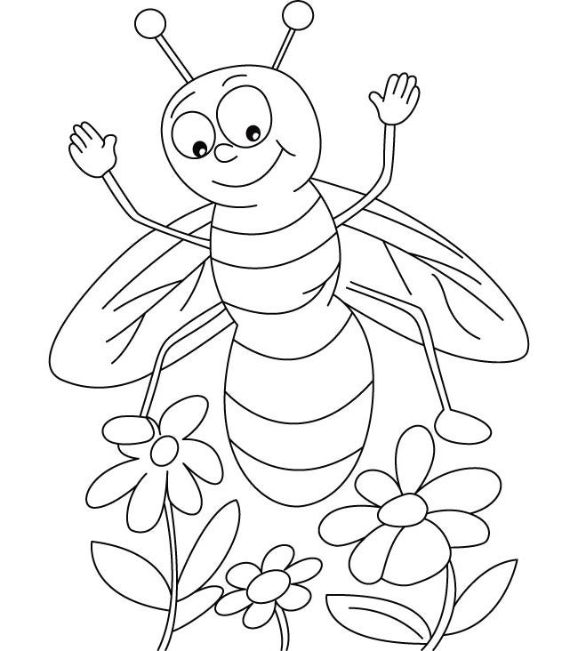 It is a graphic of Bright Honey Bee Printables