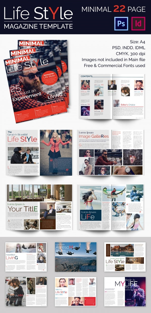 Psd and Indesign Lifestyle Magazine Template