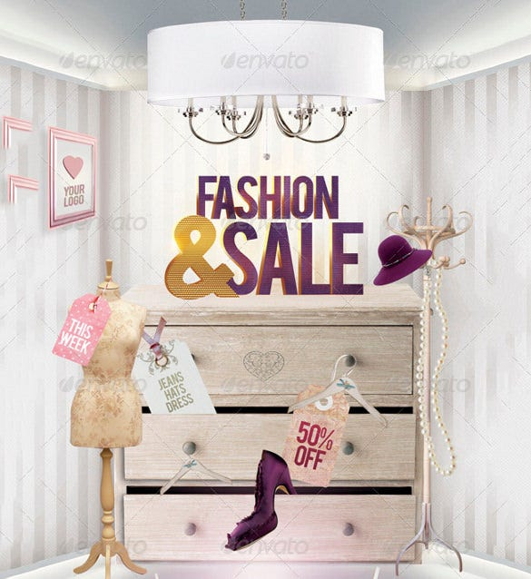 fashion and sale flyer template