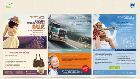 6 multipurpose sales flyer template
