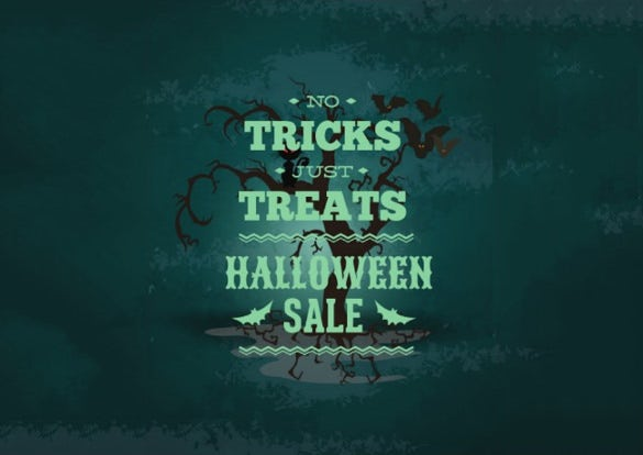 halloween sales flyer