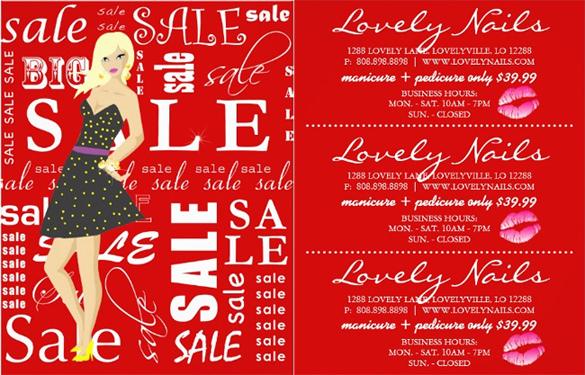 sales flyer spa specials