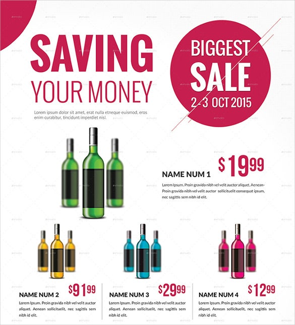 drink sale flyer template