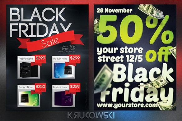 black friday sale flyers bundle