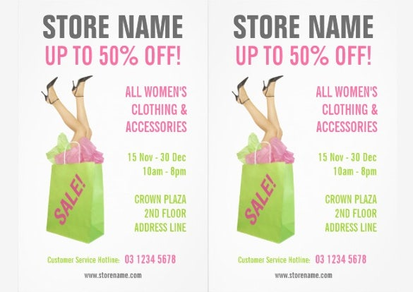 Sales flyer template 75 free psd format download free for Fashion flyers templates for free