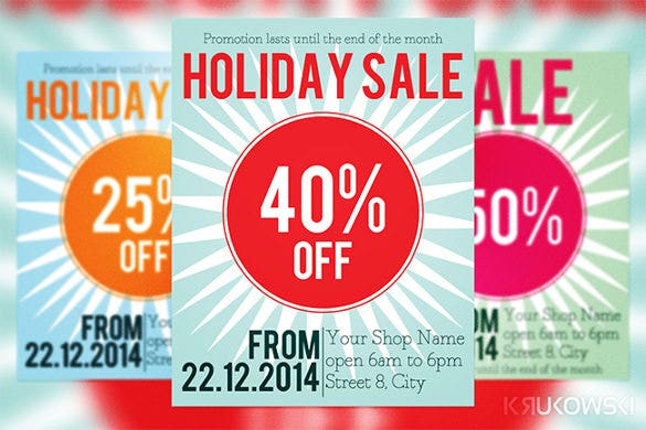 holiday sale flyer