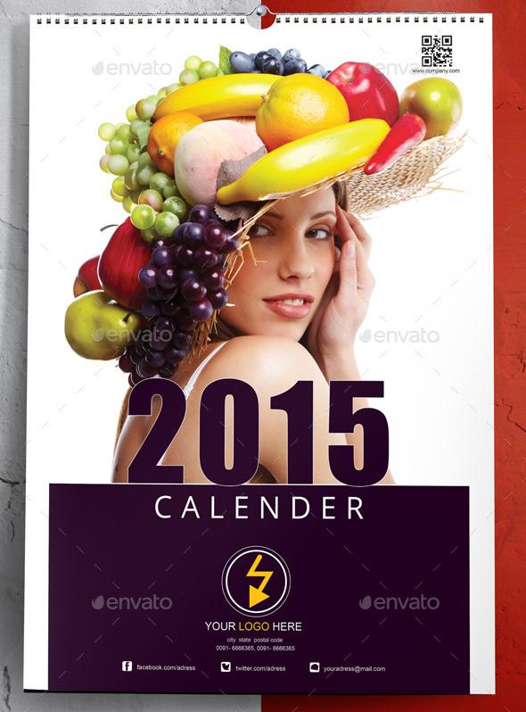 clean 2015 calendar template