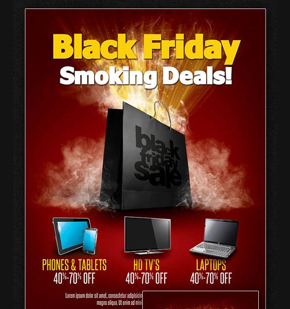 black friday sales flyer set