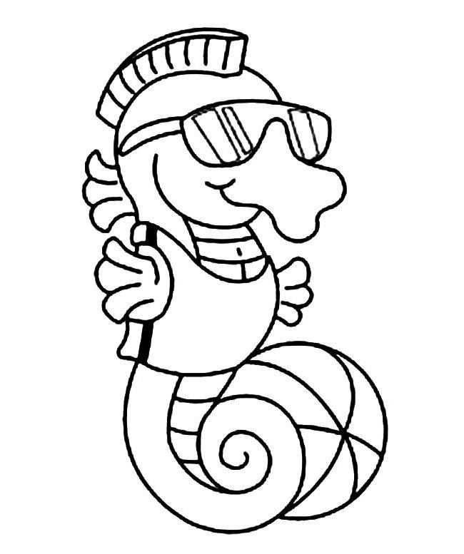 cute cartoon baby seahorse coloring pages coloringdownload