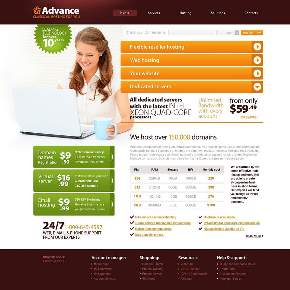 Hosting Website Template