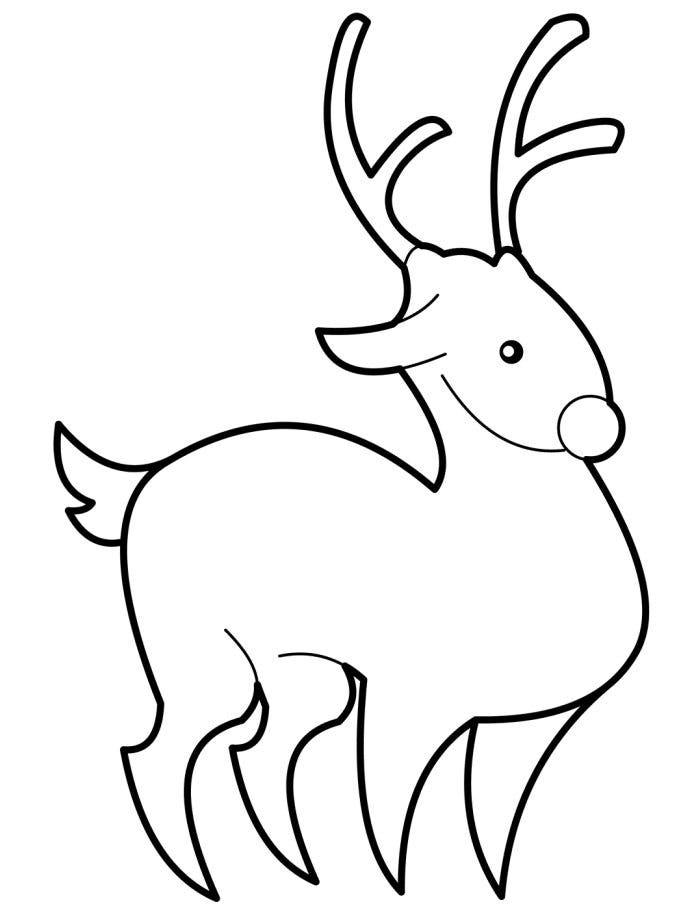 Breathtaking image with regard to printable reindeer template