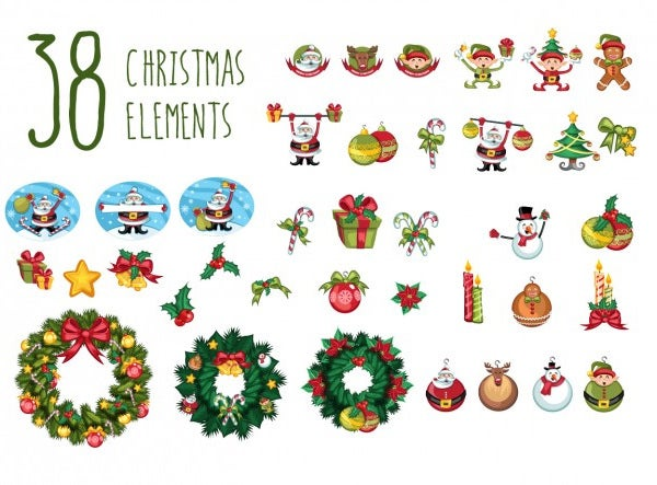 38 christmas decorations