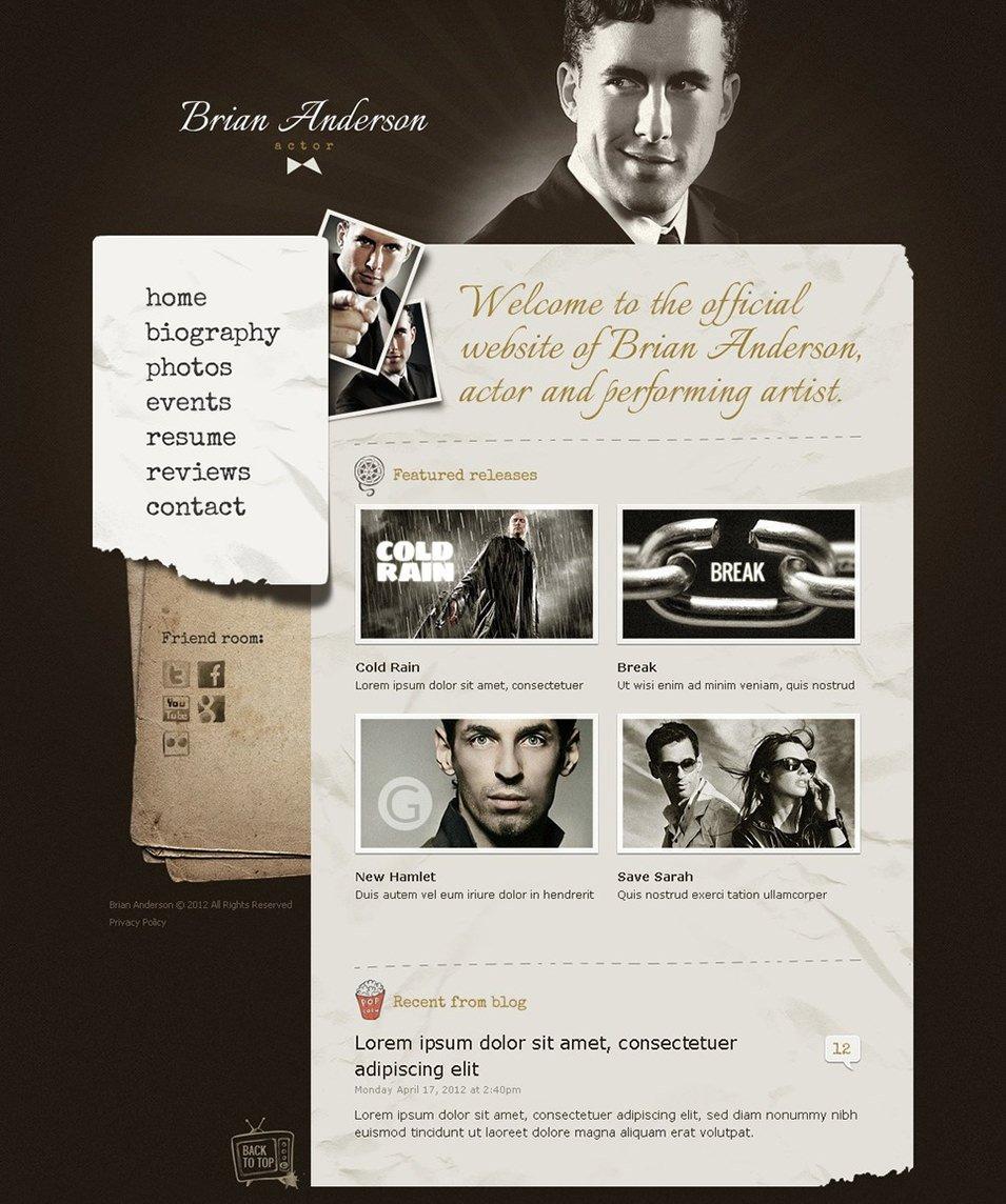 Actor Website Templates & Themes   Free & Premium   Free & Premium ...
