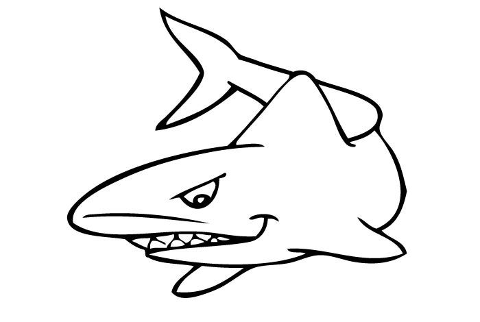 Laughing Shark Template 3913
