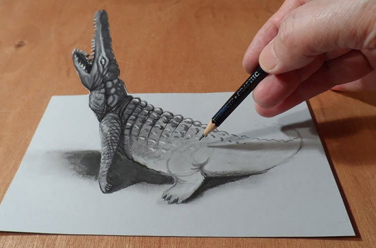 3d pencil drawing by alessandro diddi