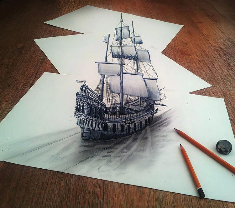 3d pencil drawing by fredo