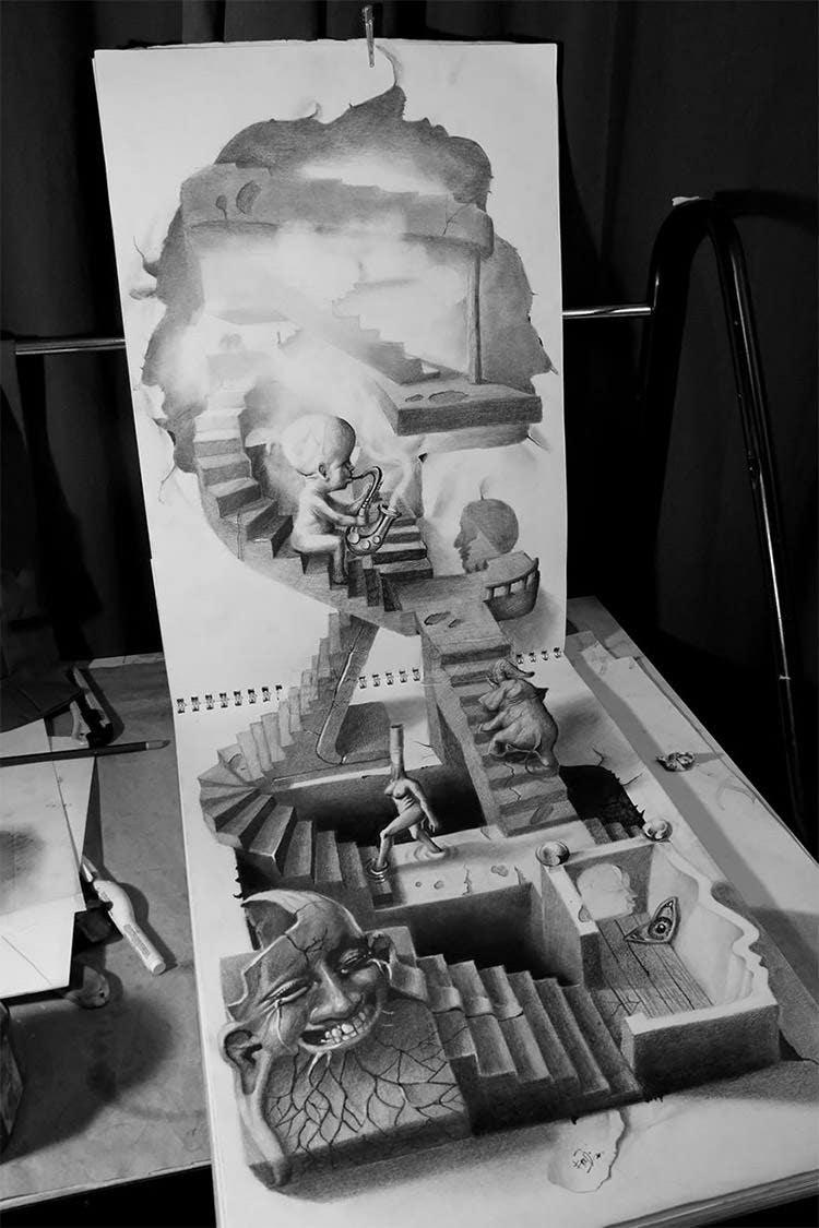 3d pencil drawing by muhammad ejleh11