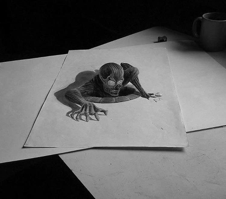 Best 3d pencil drawing by ramon bruin